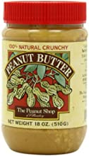 The Peanut Shop of Williamsburg Peanut Butter Crunchy 18-Ounce Plastic Jars Pack of 4