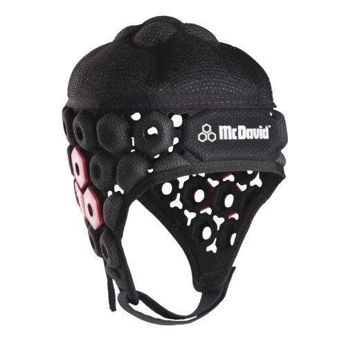McDavid Hex-683 da Rugby per testa Sport Comfort& protezione, colore: nero, facile da indossare, vestibilità, mantiene la visibilità& udito per bambini, misure disponibili