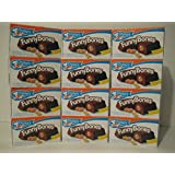 Drake's Funny Bones, Case of 12! Frosted Peanut Butter Creme Filled Devils Food Cakes. 10 Ct
