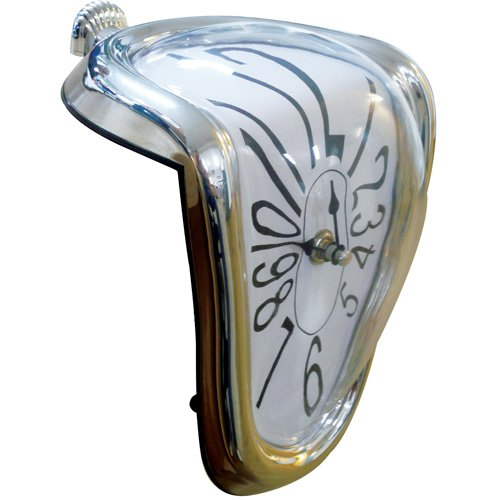 Great Ideas Salvador Dali 'Melting' Clock - Quartz Analogue Shelf / Desk / Table Novelty Timepiece With Analogue Face