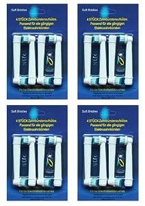 Braun Oral-B EB17-4 Precision Clean Kompatibel Ersatz Zahnbürstenköpfe mit weichen Borsten für die Elektrische Zahnbürste - 16er Pack