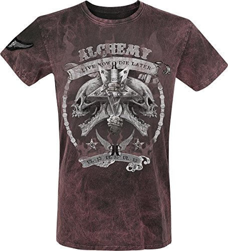 Alchemy England Pirate Race T-Shirt rosso scuro S