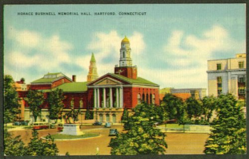 Bushnell Memorial Hartford Ct Postcard 1943