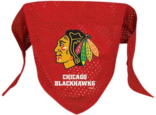 Nhl Chicago Blackhawks Pet Bandana, Team Color, Large front-1036276