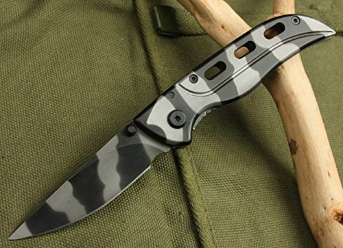 Speed Assisted Opening Camo Rescue Strap Holder Knife 5001-6.49''