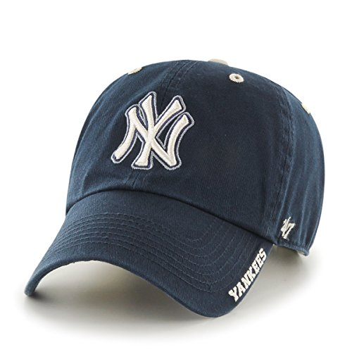 MLB New York Yankees Men's '47 Brand Ice Clean Up Cap, Navy, One-Size (Mlb Yankees Cap compare prices)