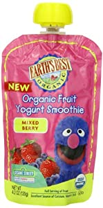 Earth's Best Organic Fruit Yogurt Smoothie, Mixed Berry, 4.2 Ounce (Pack of 12)