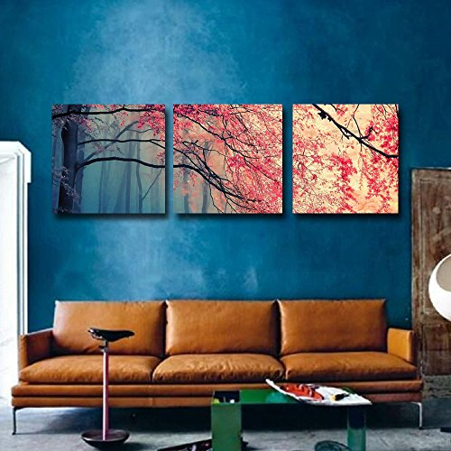 Gardenia Art Red Maples Canvas Prints Wall Art Stretched And Framed Modern
