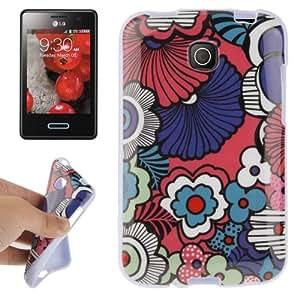 Decorative Art Pattern TPU Case for LG Optimus L3 II / E430