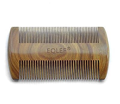 EQLEF® Green sandalwood no static handmade comb?Pocket comb (beard)