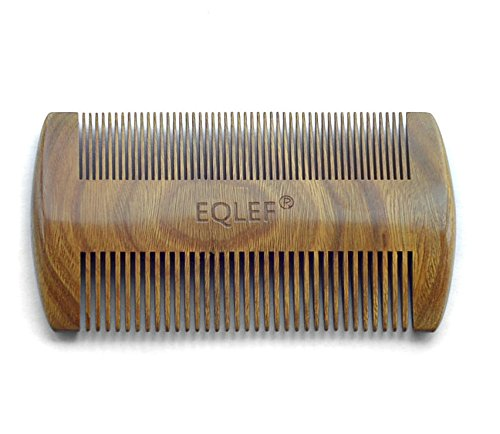 EQLEF-Green-sandalwood-no-static-handmade-combPocket-comb-beard