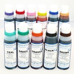 airbrush edible cake spray paint ink 12 x 4oz bottle set. Black Bedroom Furniture Sets. Home Design Ideas
