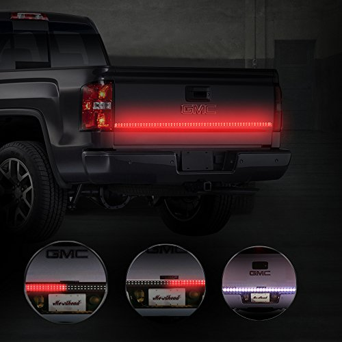 MICTUNING 60 Inch 2-Row LED Truck Tailgate Light Bar Strip Red/White Reverse Stop Turn Signal Running for SUV RV Trailer (Off Road Rear Tail Light Led Bar compare prices)