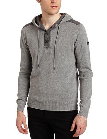 (19折)Ben Sherman Men's 1/4 Placket Hoodie连帽衫 灰色 $23.9
