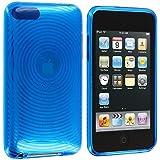 Blau wirbelt TPU Rubber Case Hülle für Apple Ipod Touch 3rd 2nd Generation 3G 2G