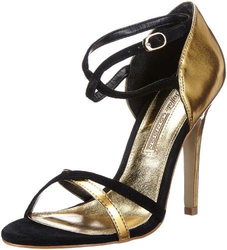 High-Heels-Sandaletten: Buffalo London 22199CH-966 SUEDE MIRROR PU 134509, Damen Sandalen, Schwarz (BLACK 98), EU 36