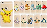 GO-de-Pokemon-Pikachu-Charizard-Blastoise-Squirtle-transparente-Apple-iPhone-con-sufstm-accesorio