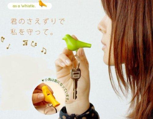 mmc 森の巣箱 ソロ キーリング Sparrow Key Ring (白/ピンク)