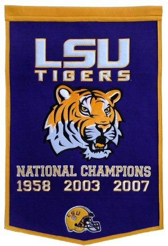 NCAA Louisiana State Fightin Tigers Dynasty Banner Winning Streak Wall Banners autotags B000WTYDOI