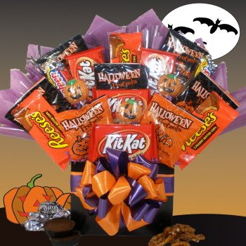 Delight Expressions Happy Haunting Halloween Gift Box - Chocolate and Candy Bouquet - Gift Basket (Halloween Candy Baskets)