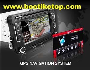Autoradio HD GPS DIVX DVD MP3 USB SD TV RDS Bluetooth IPOD avec CAN BUS pour Seat Altea Leon Exeo avec fonction TMC et tuner TNT