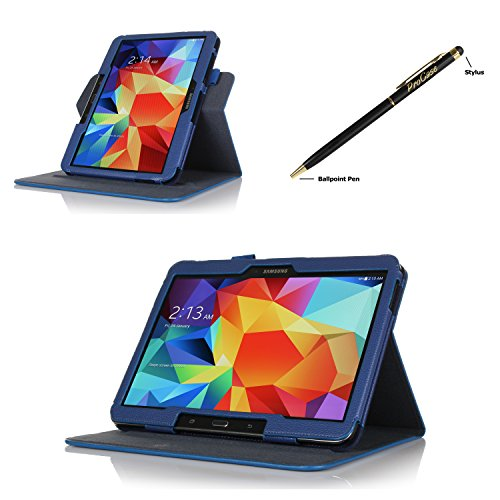 Procase Samsung Galaxy Tab S 10.5 Dual View Case (Horizontal And Vertical Display) - Rotating Cover Case With Stand Exclusive For 2014 Samsung Galaxy Tab S (10.5 Inch, Sm-T800) Tablet (Navy, Dark Blue)