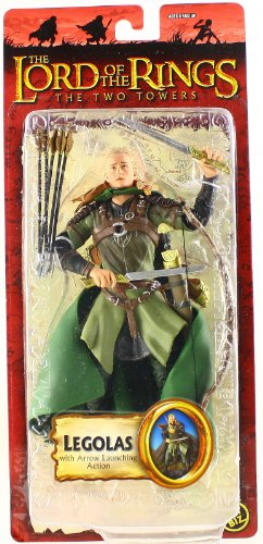 The Lord of the Rings Two Towers Legolas with Arrow Launching Action and Electronic Sound Base