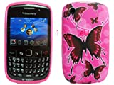 Blackberry Curve 8250 9300 Butterfly Back Skin Soft Cover Case MobileZoneUK