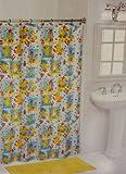 Rubber Duck Ducky Kids Bathroom Shower Curtain