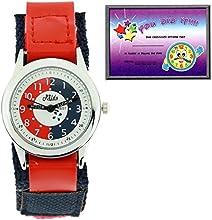 Relda - REL07 - Reloj de aprendizaje, correa de velcro, para niños, color rojo y azul marino