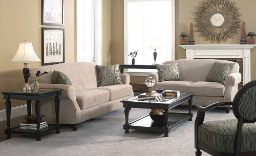 Buy Low Price Coaster 2PCS Elegant Design Beige Chenille Fabric Sofa & Loveseat Set (VF_550241SL)