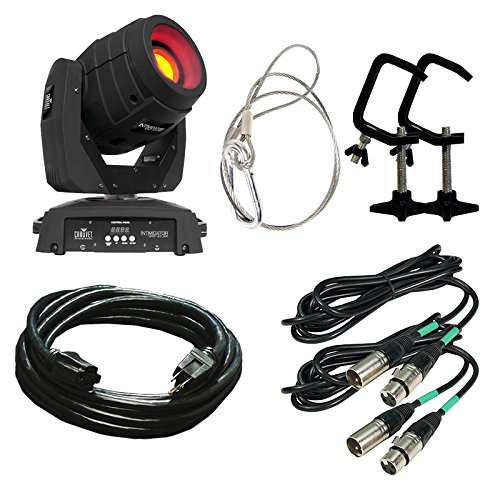 Chauvet Dj Intimidator Spot Led 350 With Dmx Cable, Mounting Clamps, And Extension Cable Bundle