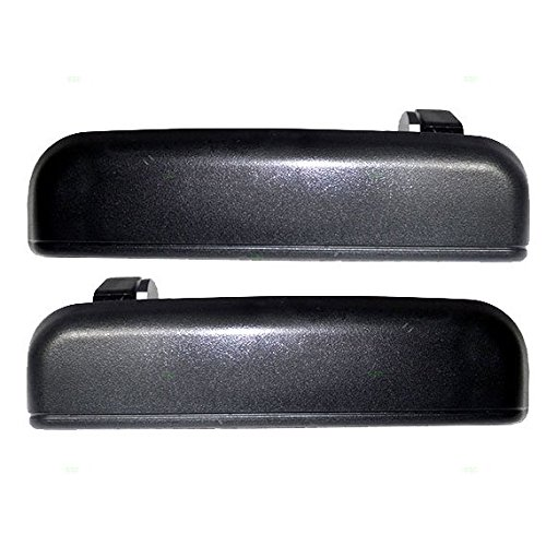 Driver and Passenger Rear Outside Outer Textured Door Handles Replacement for Toyota 6924016090 6923016090 (1995 Tercel Door Handle compare prices)