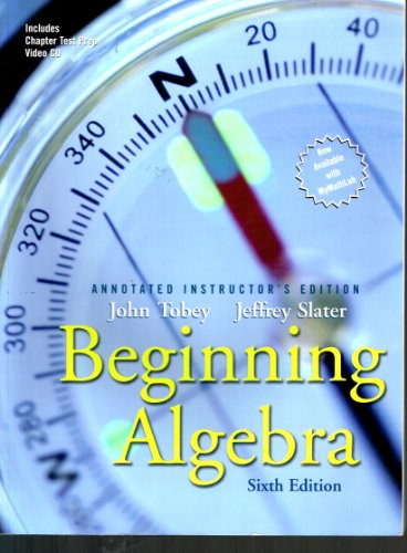 Beginning Algebra: Annotated Instructor's Edition