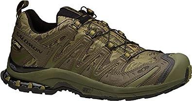 Salomon Men's XA Pro 3D Ultra 2 GTX Shoes Camo Forest / Komando / Olive 8 and Spare Black Quicklace Kit