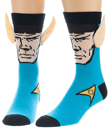 Star-Trek-Spock-with-Ears-Crew-Socks