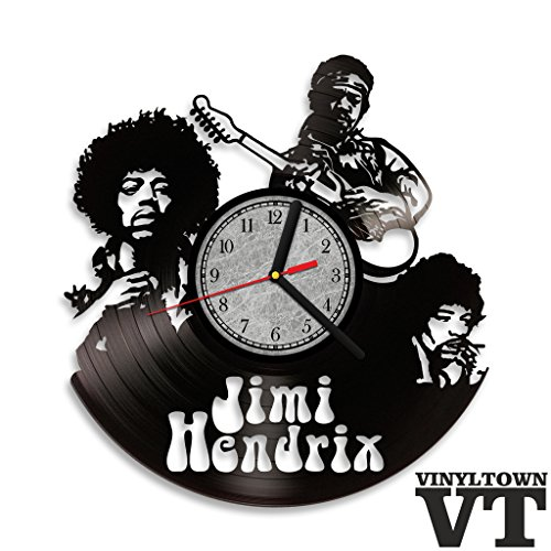 [Jimi Hendrix Vinyl Record Wall Clock . Rock and Roll wall art. Perfect gift for music fan.] (Vinyl Rock Star Costumes)