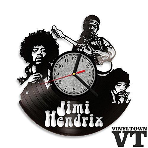 Jimi Hendrix Vinyl Record Wall Clock . Rock and Roll wall art. Perfect gift for music fan.