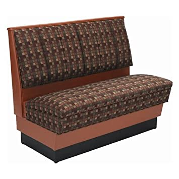 """American Tables & Seating AS36-66U-D Single Deuce Alex Style Upholstered Booth - 36"""" High"""