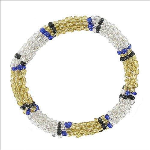 Multi Seed Bead Stretch Nepal Bracelet #041636