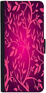 Snoogg Vector Seamless Pattern With Pink Branches Designer Protective Phone Flip Case Cover For Redmi 2 Prime
