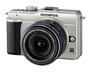 Olympus PEN E-PL1 12.3MP Live MOS Micro Four Thirds Interchangeable Lens Digital Camera with 14-42mm f/3.5-5.6 Zuiko Digital Zoom Lens (Champagne Silver)
