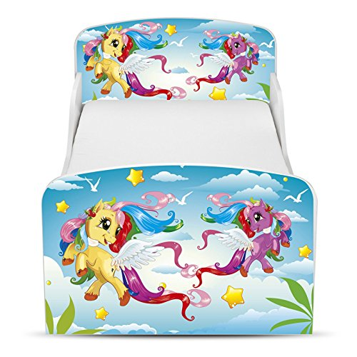 PriceRightHome poney Design MDF Toddler ne Bed aucun stockage + matelas mousse