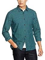 ESPRIT Camisa Hombre (Verde)