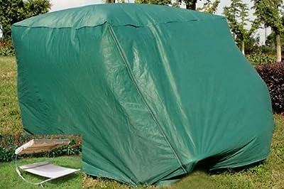 Schutzhülle für Doppelliege / Sonnenliege mit Seitlichen Reißverschlüssen-Wasserdicht-Farbe:grün-NEU von WEIHU - Gartenmöbel von Du und Dein Garten