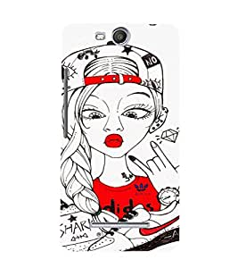EPICCASE Funky Girl Mobile Back Case Cover For Micromax Canvas Juice 3 Q392 (Designer Case)