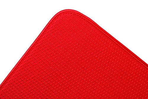 Envision Home Dish Drying Mat - 16 × 18 - Red