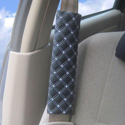 Beliebte Motor Car Safety Seatbelt Abdeckungs-Kissen Auto Kissen Schulter Pad (Black)