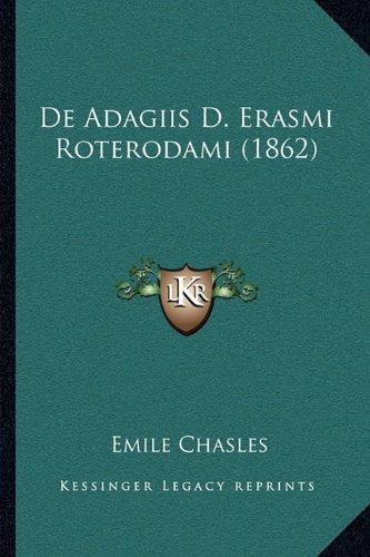 de Adagiis D. Erasmi Roterodami (1862)