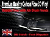 TIS (TM) 1520mm x 4 Meters 3D Textured Air Drain Carbon Fibre Film - Wrap Vinyl Sticker Sheet. Bubble Free, 0.20mm thick, Dry Glue Technology